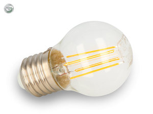 LED Filament E27 4W kogel 2700K