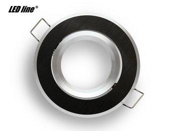 Inbouwspot rond geborsteld aluminium zwart