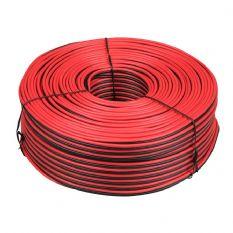 draad 2x 1,00 mm² rood/zwart