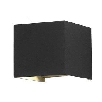 Led kubus wandlamp zwart