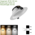 Led downlight 3 color 18W_